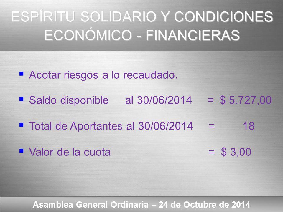 Here comes your footer INTRODUCCIÓN Asamblea General Ordinaria – 24 de Octubre de 2014 Resolución Asamblea General Ordinaria del 31/10/2007 Art.