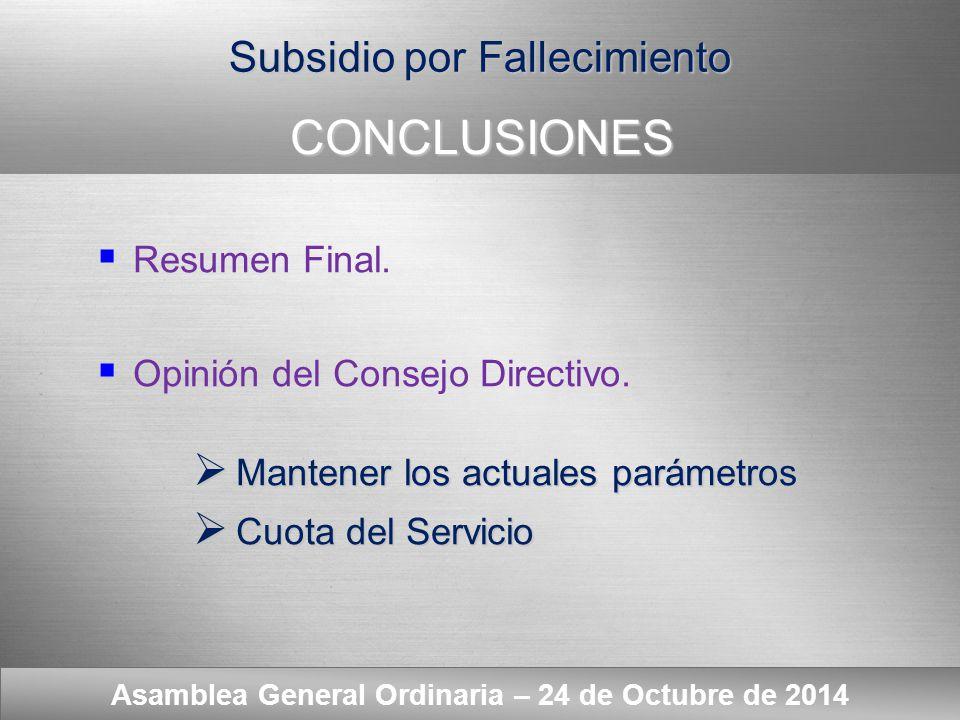 Here comes your footer ESPÍRITU SOLIDARIO Y CONDICIONES ECONÓMICO - FINANCIERAS Asamblea General Ordinaria – 24 de Octubre de 2014  Acotar riesgos a lo recaudado.