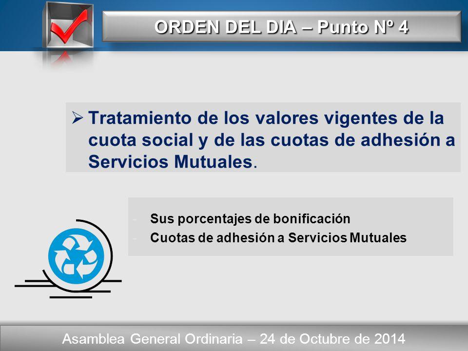Here comes your footer CONCLUSIONES Asamblea General Ordinaria – 24 de Octubre de 2014  Resumen Final.