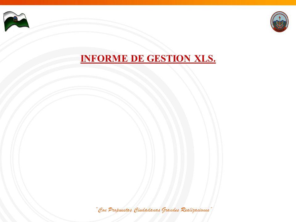 Con Propuestas Ciudadanas Grandes Realizaciones INFORME DE GESTION XLS.