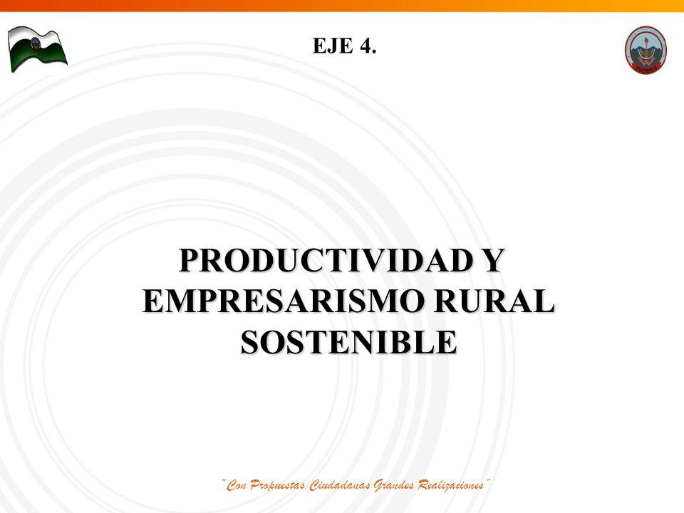Con Propuestas Ciudadanas Grandes Realizaciones EJE 4.