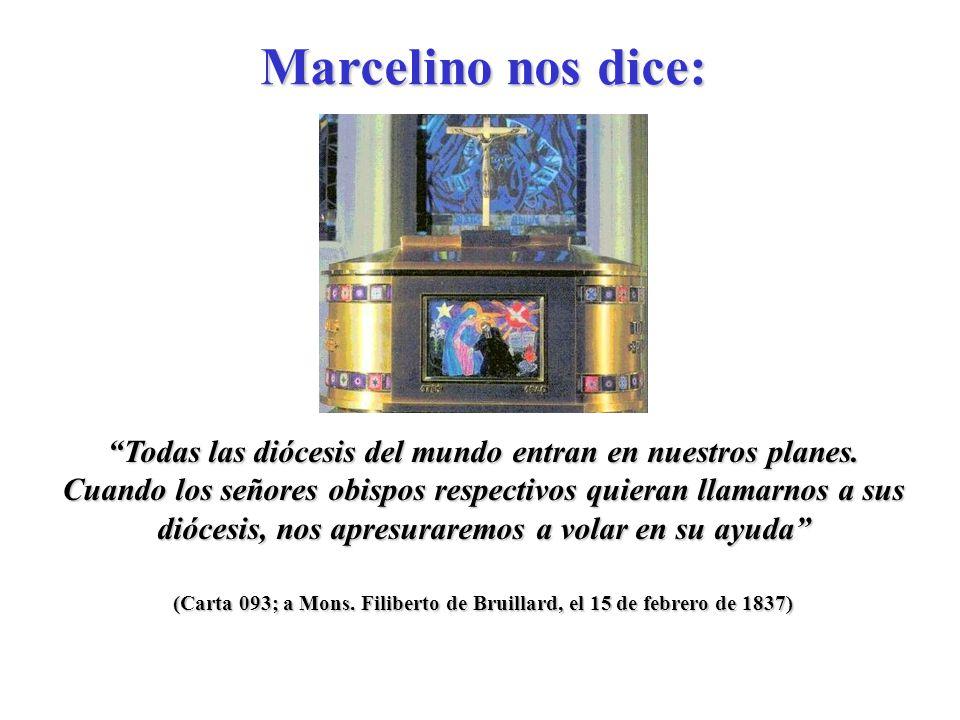 (Carta 063; Circular a todos los Hermanos, el 19 de enero de 1836) Muy queridos Hermanos, religiosos e hijos de María, la gloria de ustedes ha de consistir en imitar y seguir a Jesucristo. Marcelino nos dice: