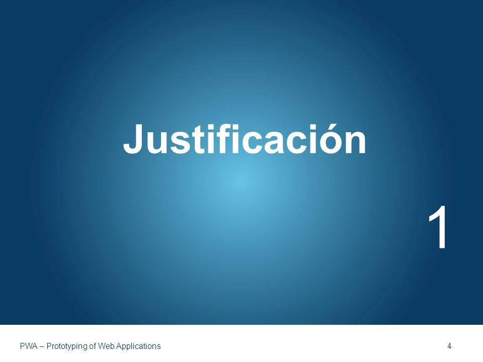 Justificación 1 PWA – Prototyping of Web Applications 4