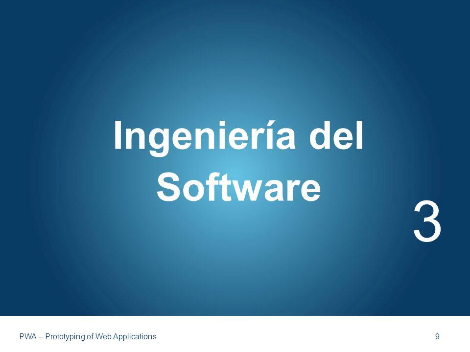 Ingeniería del Software 3 PWA – Prototyping of Web Applications 9