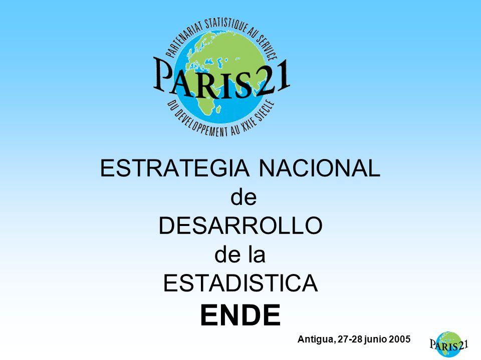 Antigua, 27-28 junio 2005 ESTRATEGIA NACIONAL de DESARROLLO de la ESTADISTICA ENDE