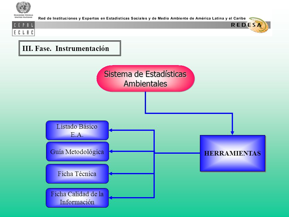 III. Fase. Instrumentación Sistema de Estadísticas Ambientales Listado Básico E.A.