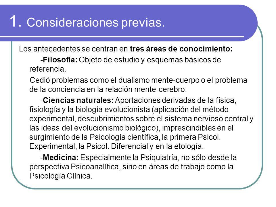 1. Consideraciones previas.