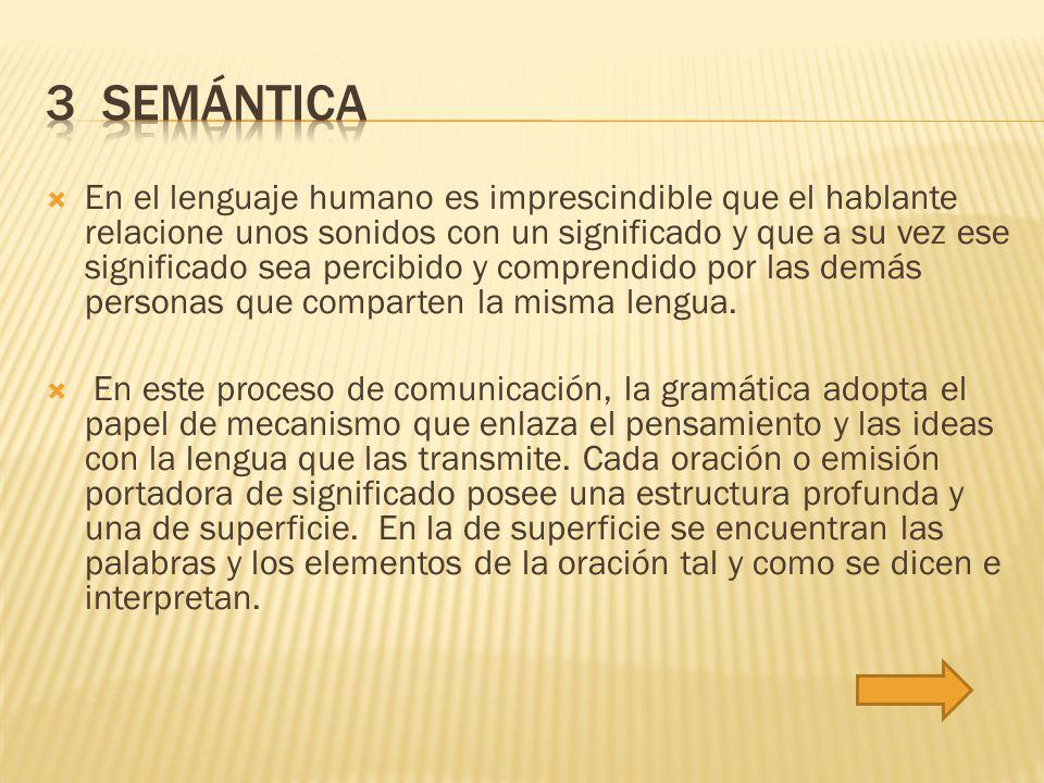  Cualquier lengua humana tiene una estructura gramatical en la que las unidades fónicas (señalizadoras) se combinan para producir un significado.