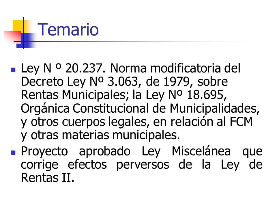 Temario Ley N º 20.237.