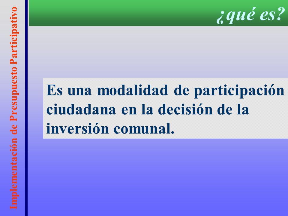 Implementación de Presupuesto Participativo FUNDACIÓN FRIEDRICH EBERT 2003 FORO CHILENO DE PRESUPUESTO PARTICIPATIVO