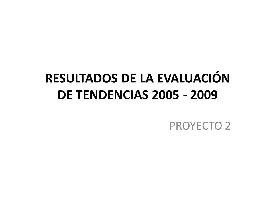 RESULTADOS DE LA EVALUACIÓN DE TENDENCIAS 2005 - 2009 PROYECTO 2