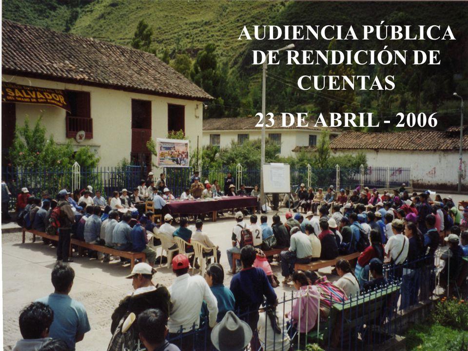 AUDIENCIA PÚBLICA DE RENDICIÓN DE CUENTAS 23 DE ABRIL - 2006