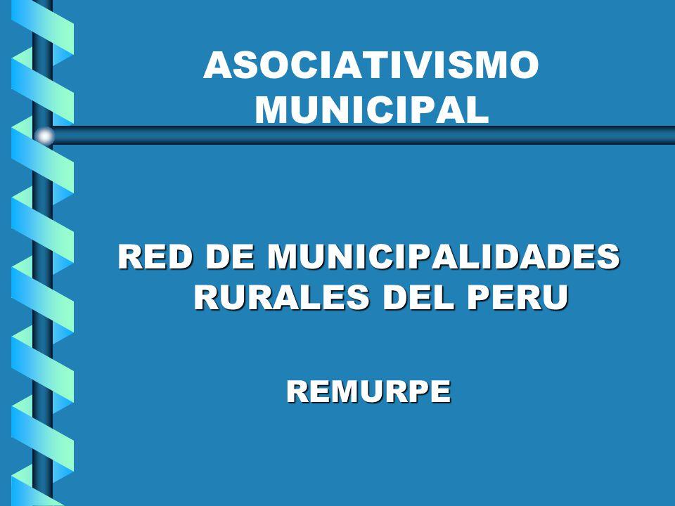 ASOCIATIVISMO MUNICIPAL RED DE MUNICIPALIDADES RURALES DEL PERU REMURPE
