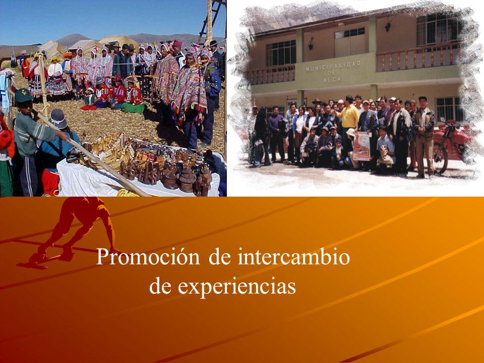Promoción de intercambio de experiencias