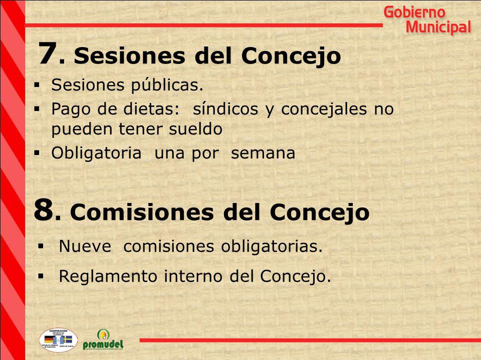  Sesiones públicas.