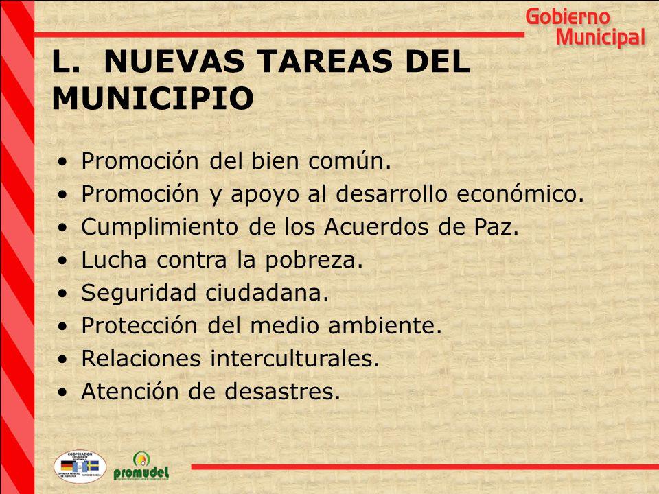 L. NUEVAS TAREAS DEL MUNICIPIO Promoción del bien común.