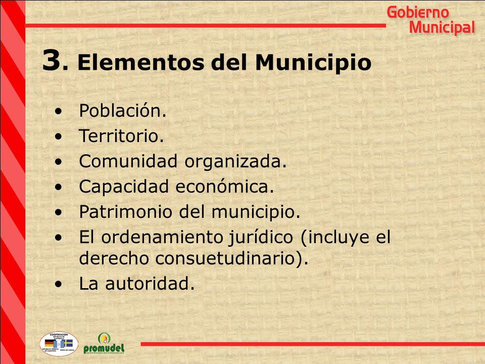 3. Elementos del Municipio Población. Territorio.