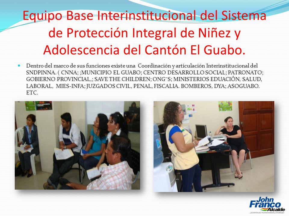 Equipo Base Interinstitucional del Sistema de Protección Integral de Niñez y Adolescencia del Cantón El Guabo.