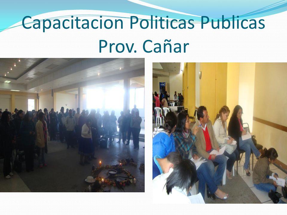 Capacitacion Politicas Publicas Prov. Cañar