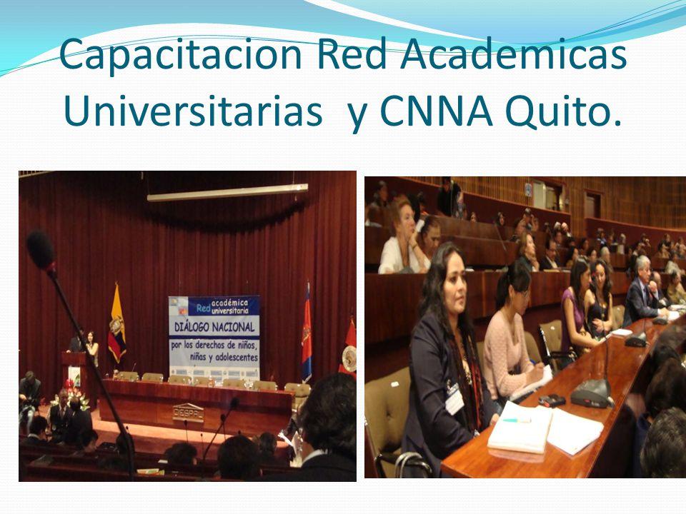 Capacitacion Red Academicas Universitarias y CNNA Quito.