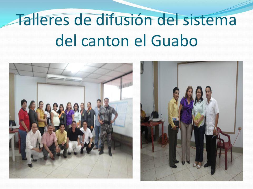 Talleres de difusión del sistema del canton el Guabo