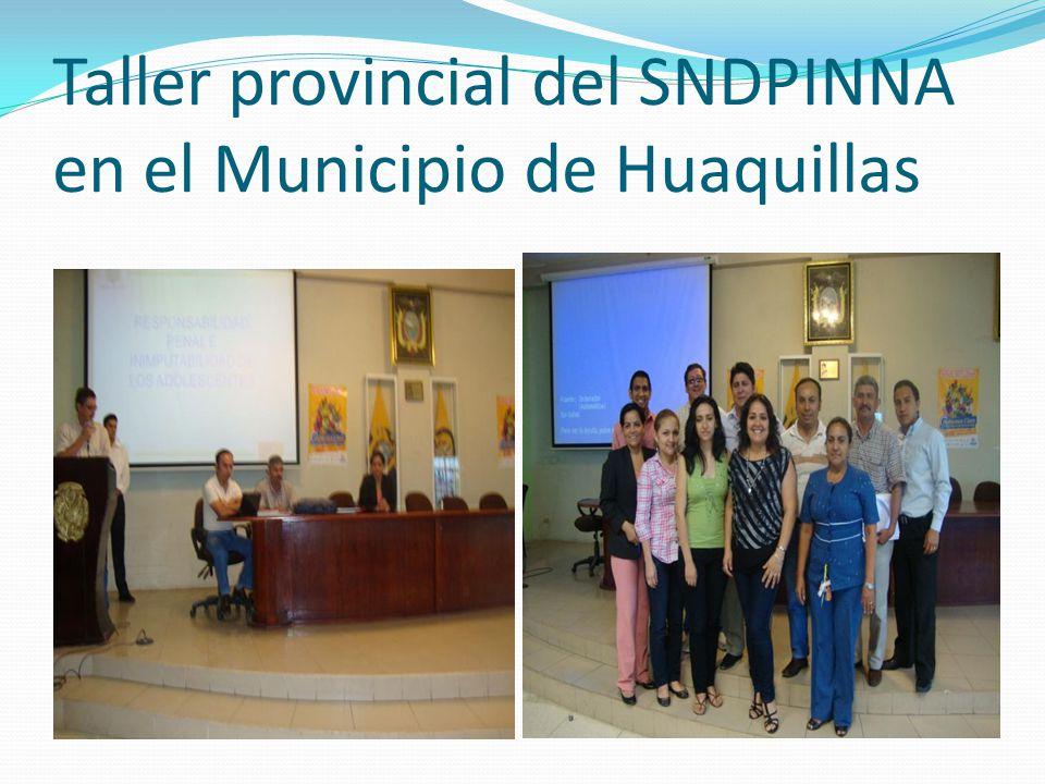 Taller provincial del SNDPINNA en el Municipio de Huaquillas