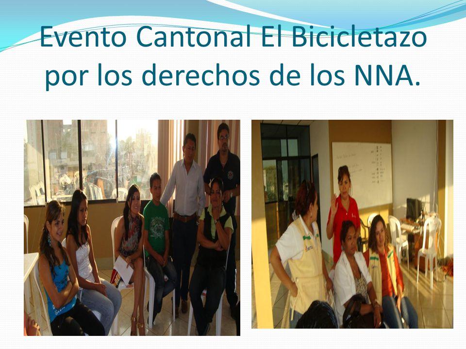Evento Cantonal El Bicicletazo por los derechos de los NNA.