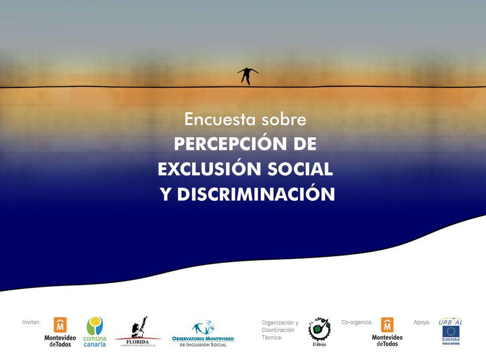 1 Encuesta sobre Percepción de Exclusión Social y Discriminación