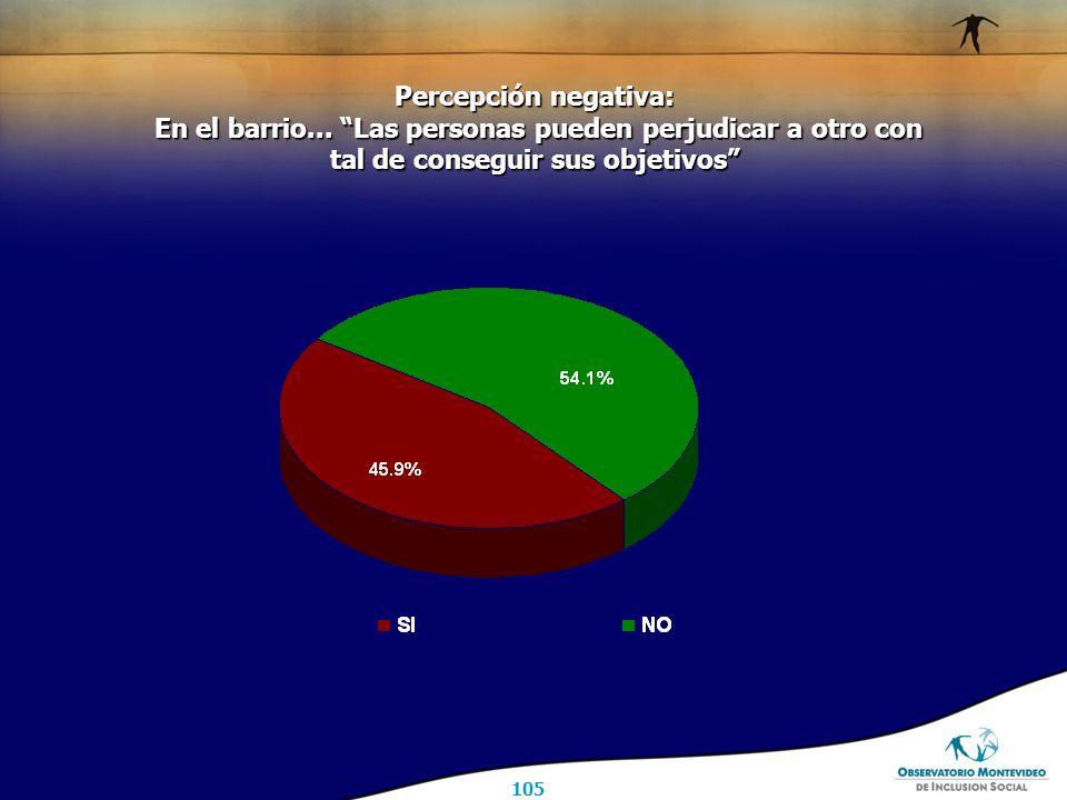 105 Percepción negativa: En el barrio...