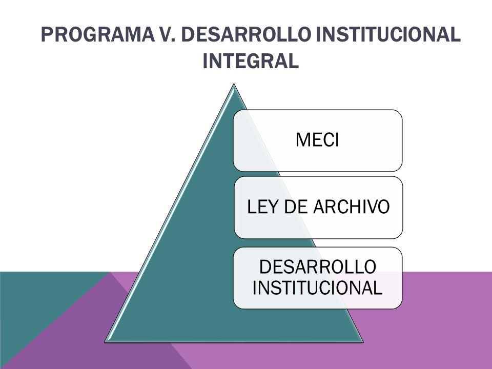 MECILEY DE ARCHIVO DESARROLLO INSTITUCIONAL