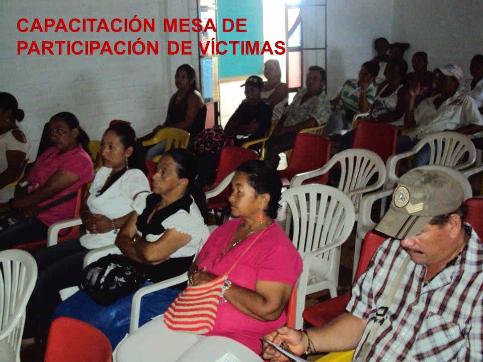 PERSONERÍA MUNICIPAL ARMENIA ANTIOQUIA 2008 - 2012 CAPACITACIÓN MESA DE PARTICIPACIÓN DE VÍCTIMAS