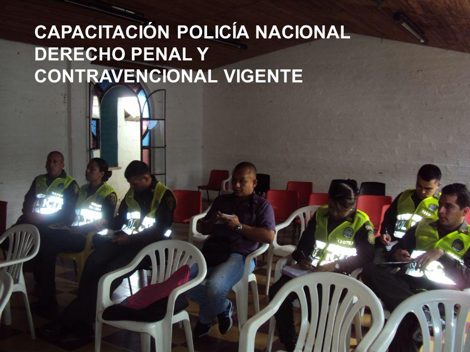 PERSONERÍA MUNICIPAL ARMENIA ANTIOQUIA 2008 - 2012 CAPACITACIÓN POLICÍA NACIONAL DERECHO PENAL Y CONTRAVENCIONAL VIGENTE