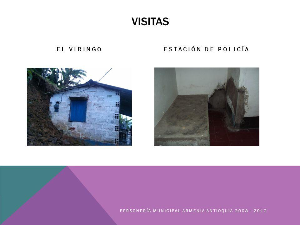 VISITAS EL VIRINGOESTACIÓN DE POLICÍA PERSONERÍA MUNICIPAL ARMENIA ANTIOQUIA 2008 - 2012