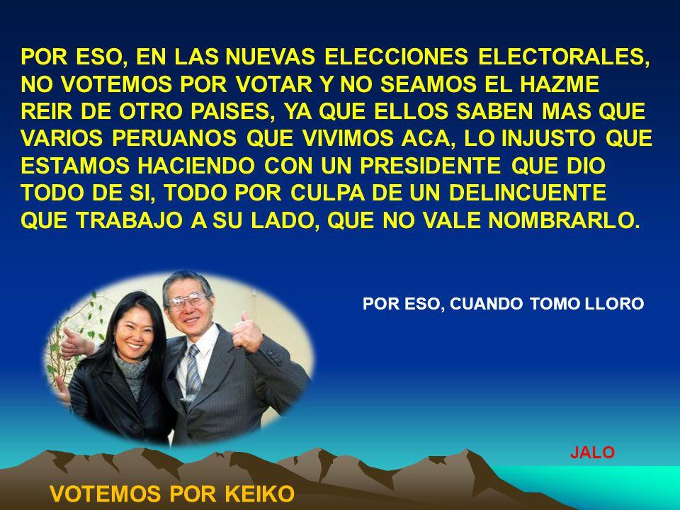 Que le pasa al pueblo peruano, por que dejamos que tantos miserables políticos manejen nuestra política del país a su antojo, son tan injustos y cobardes de no reconocer a los artífices del despegué de nuestro país al desarrollo; ellos fueron los que nos sacaron del abismo que tuvimos en los finales del 80; quien actualmente nos gobierna fue el culpable de esa crisis.