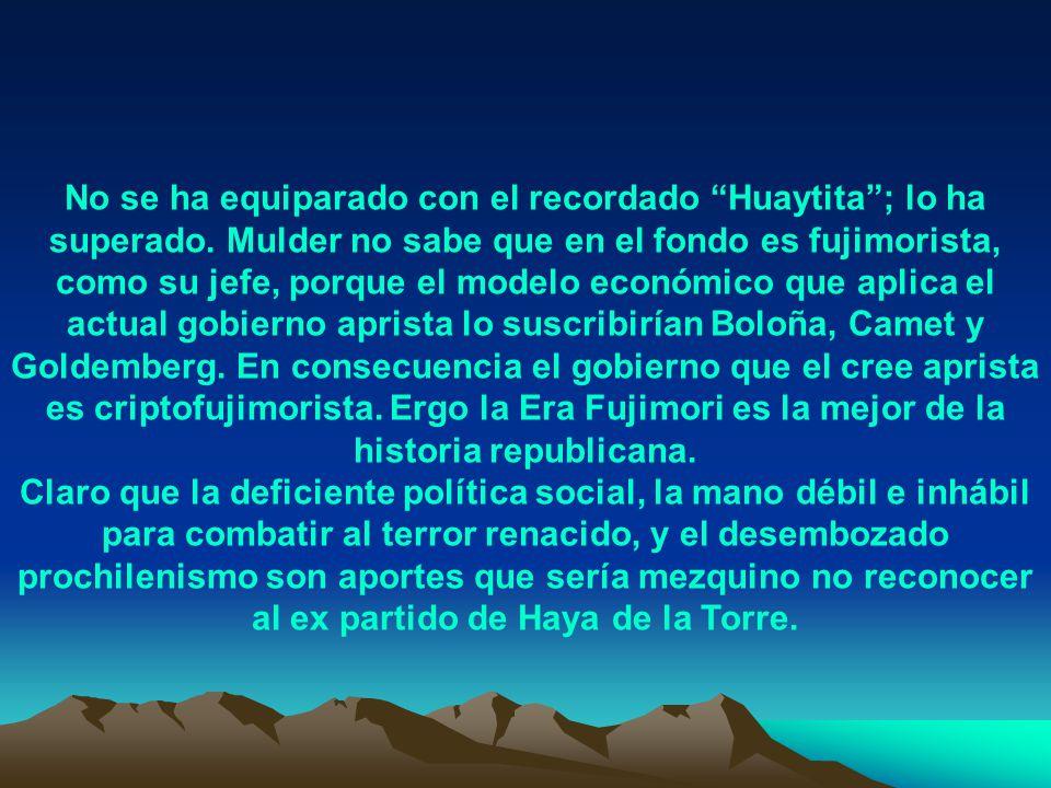 En el gobierno del permanente disparate y la borrachera que fue el de Perú Posible, Pedro Pablo Kuczynski tuvo, gracias a Dios, el control total de la economía y manejó ésta como Boloña, Camet y Goldemberg.