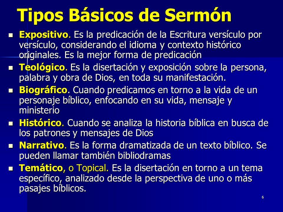 6 Tipos Básicos de Sermón Expositivo.