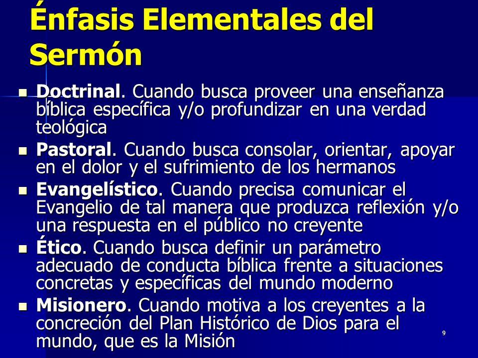 9 Énfasis Elementales del Sermón Doctrinal.