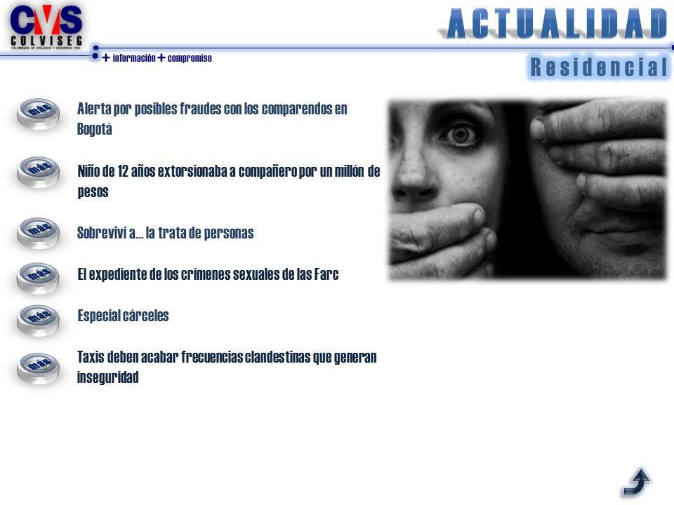+ información + compromiso Alerta por posibles fraudes con los comparendos en Bogotá Niño de 12 años extorsionaba a compañero por un millón de pesos Sobreviví a...