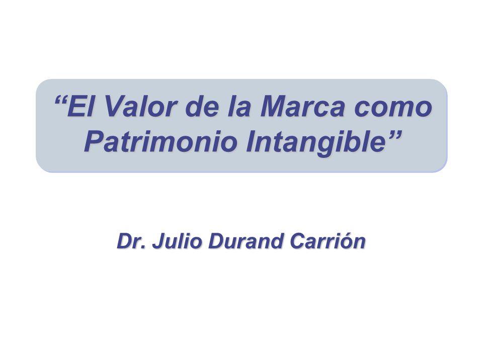 El Valor de la Marca como Patrimonio Intangible Dr. Julio Durand Carrión