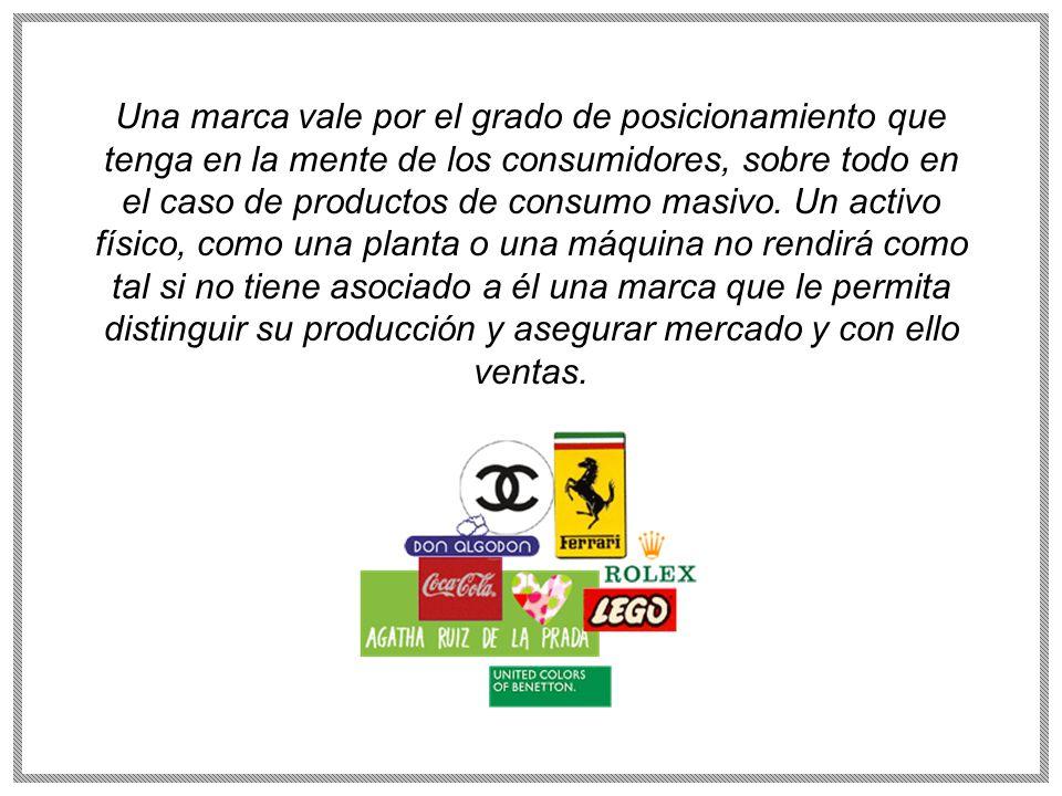 Una marca vale por el grado de posicionamiento que tenga en la mente de los consumidores, sobre todo en el caso de productos de consumo masivo.