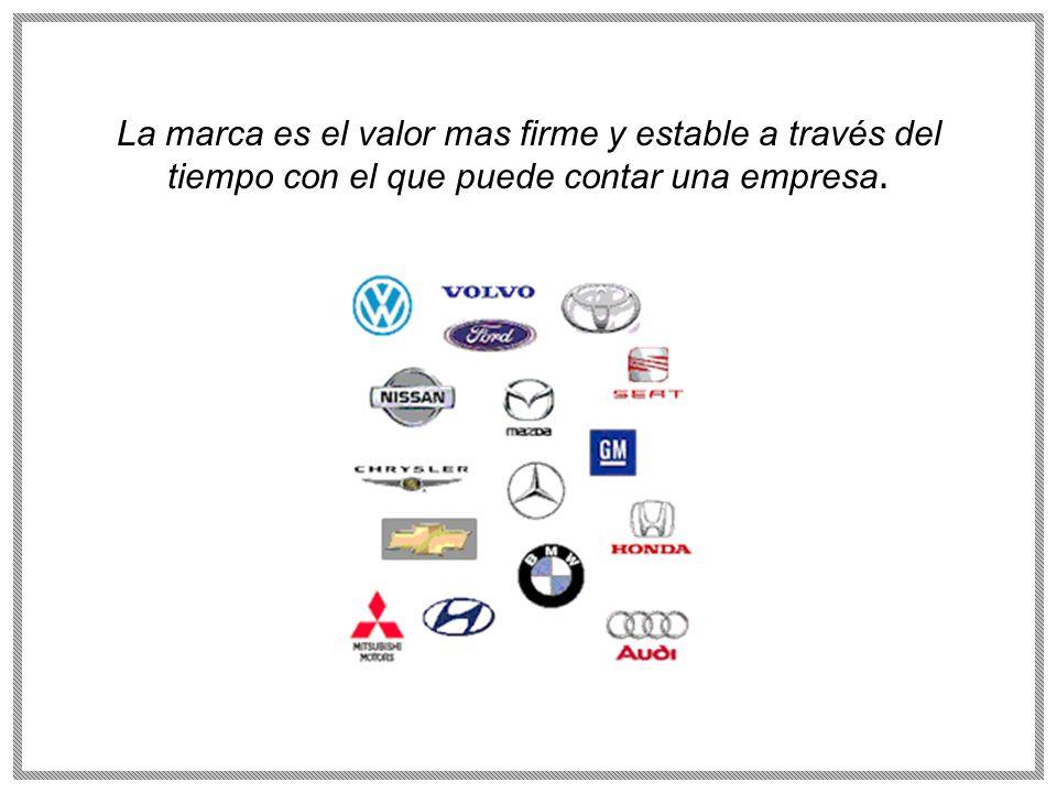 La marca es el valor mas firme y estable a través del tiempo con el que puede contar una empresa.