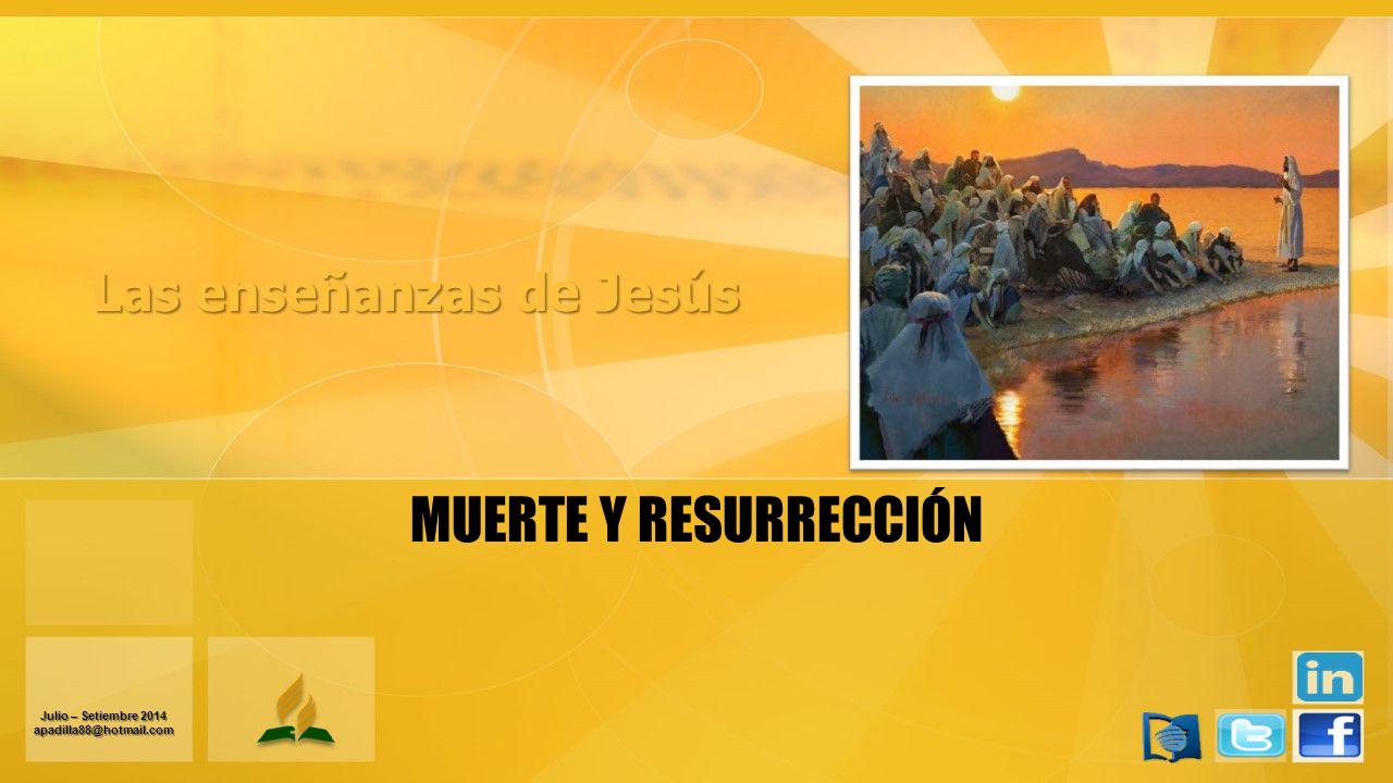 MUERTE Y RESURRECCIÓN Julio – Setiembre 2014 apadilla88@hotmail.com