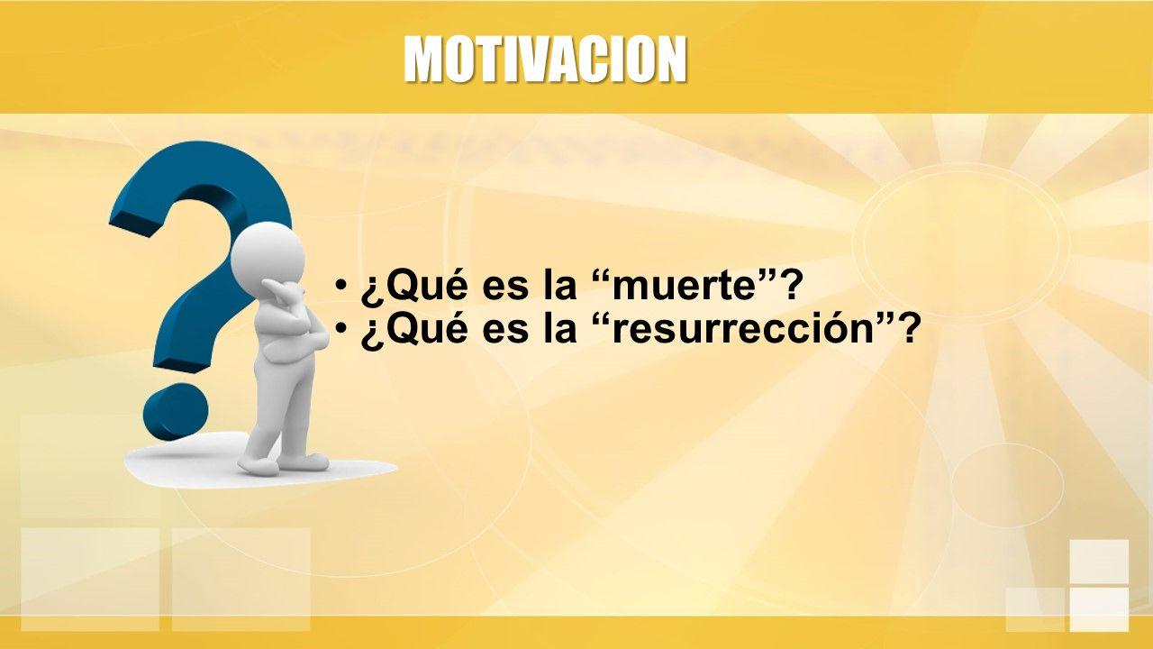 ¿Qué es la muerte ¿Qué es la resurrección MOTIVACION