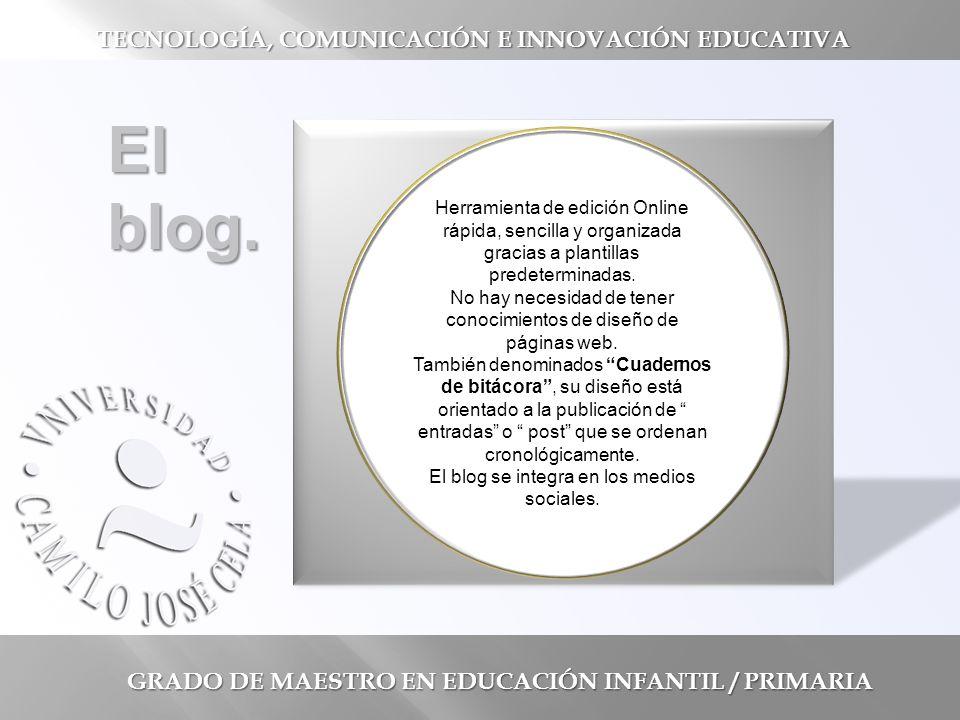 GRADO DE MAESTRO EN EDUCACIÓN INFANTIL / PRIMARIA El blog.