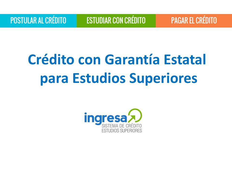 Crédito con Garantía Estatal para Estudios Superiores