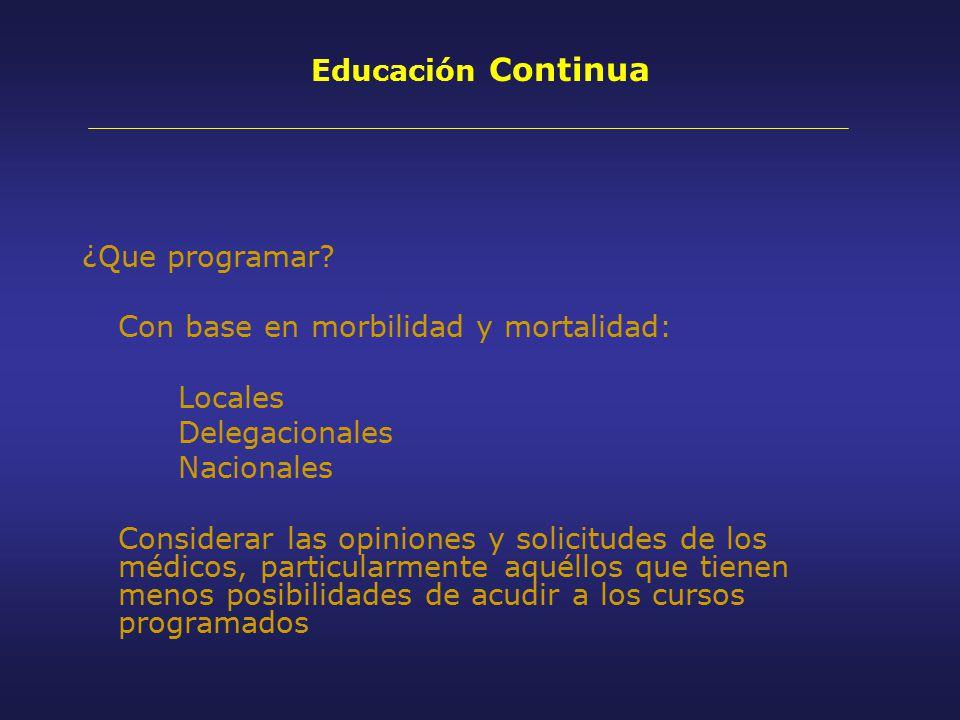 Educación Continua ¿Que programar.