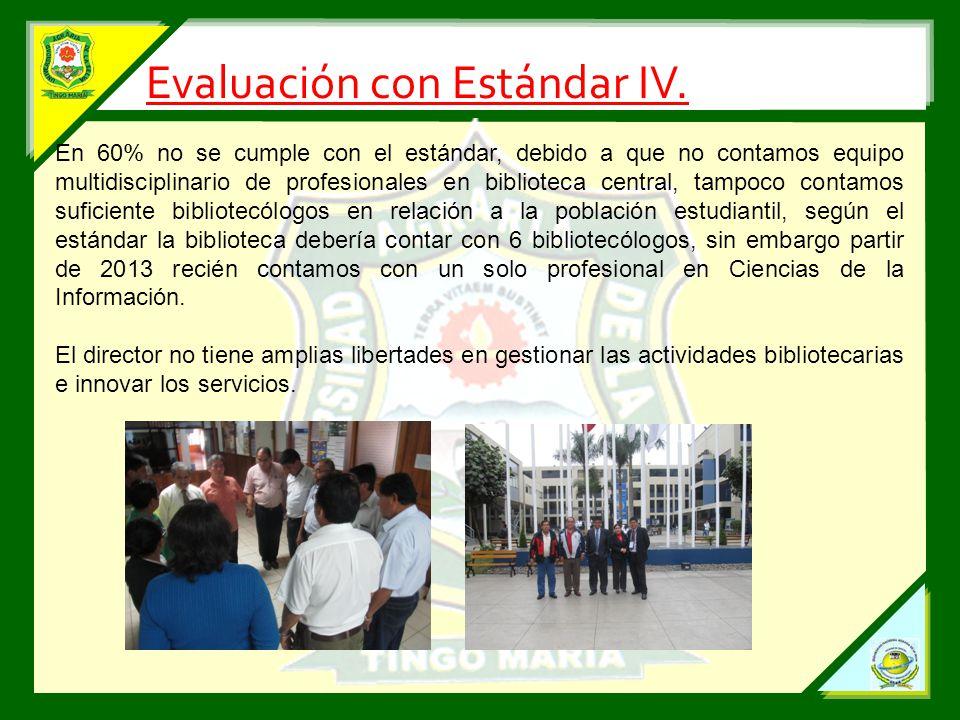 Evaluación con Estándar IV.