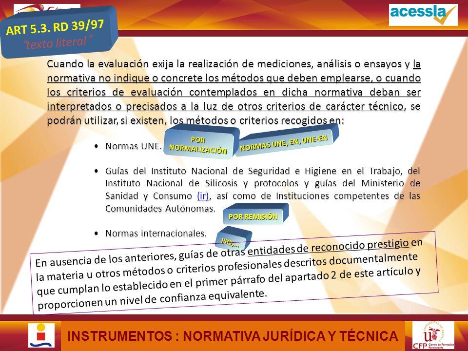 MÓDULO X - UNIDAD XX: Título de la Unidad ALTERNATIVAS PARA LA REALIZACIÓN DEL PERITAJE Los instrumentos con los que cuenta el perito son los siguientes, por separado o combinados: Normativa jurídica y técnica.