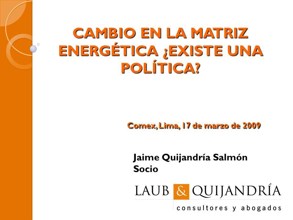 CAMBIO EN LA MATRIZ ENERGÉTICA ¿EXISTE UNA POLÍTICA.