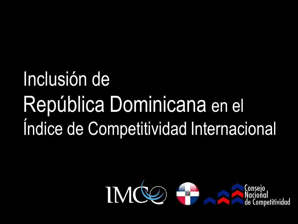 Inclusión de República Dominicana en el Índice de Competitividad Internacional